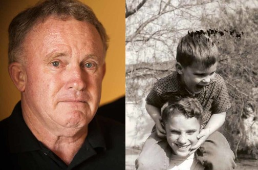 Larry Ingraham (left), a retired San Diego police officer, spent years trying to find out how his brother, Van Ingraham, died in 2007 in a state-run developmental center that was supposed to keep him safe. Larry and Van are shown in a 1963 family photo on the right. Credit: Photo on left: Nadia Borowski Scott; photo on right: Courtesy of Larry Ingraham