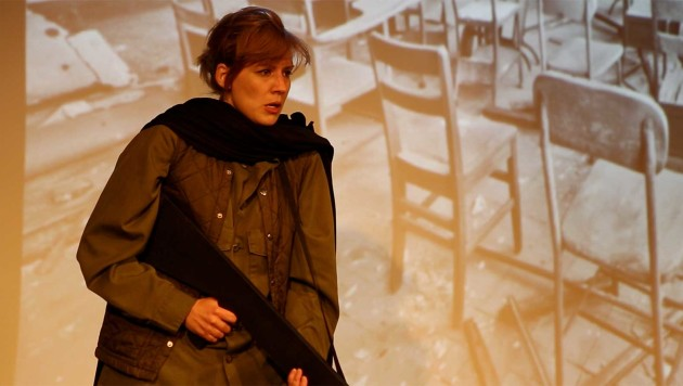 """Screengrab of video of """"A Guide to the Aftermath,"""" Tides Theater and KQED."""