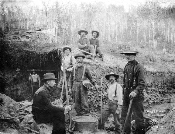 Miners work in the Yukon Territory in 1898. Nineteenth-century laws and  policies continue to govern our natural resources and public lands today.