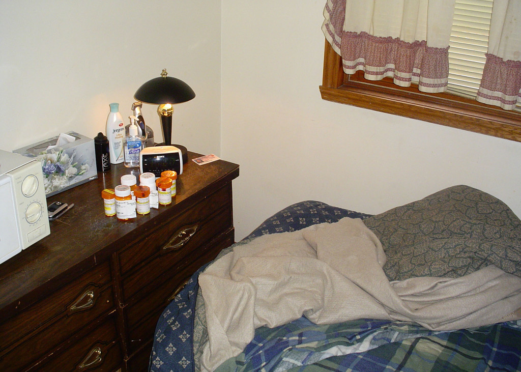 Empty pill bottles were found on the dresser in Angela Colby's apartment the morning after she died of a drug overdose.