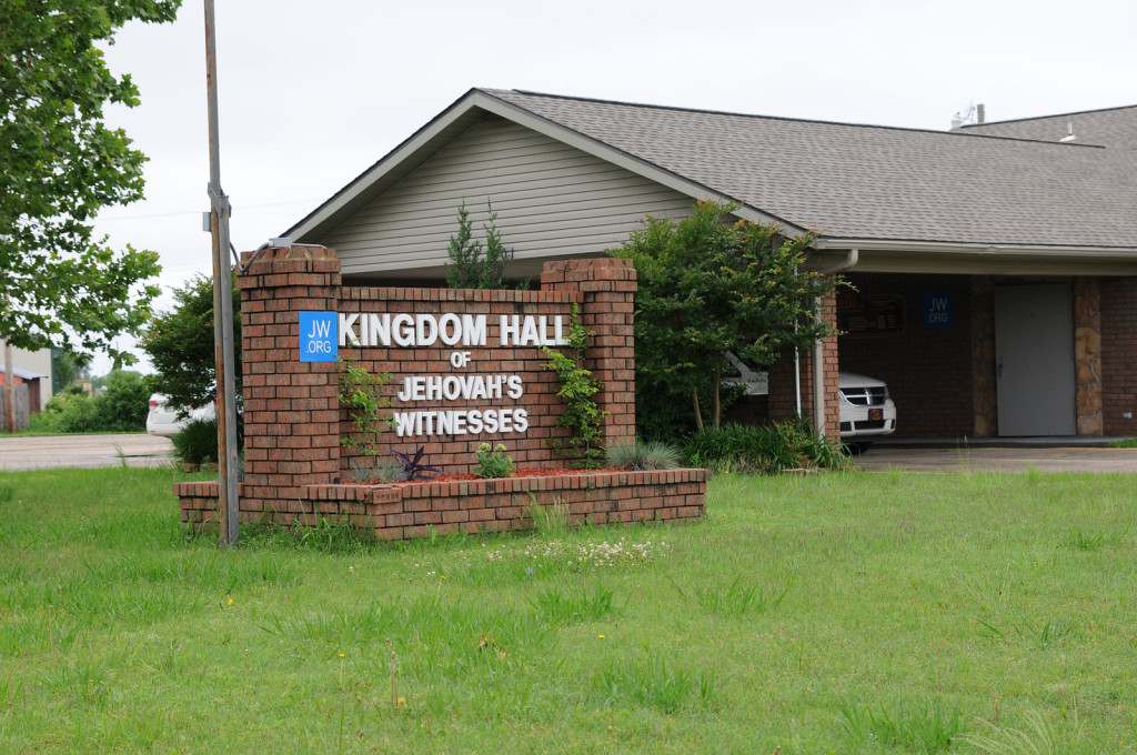 On the northwest edge of town sits the kingdom hall of the McAlester Congregation of Jehovah's Witnesses, a house of worship with about 100 members.