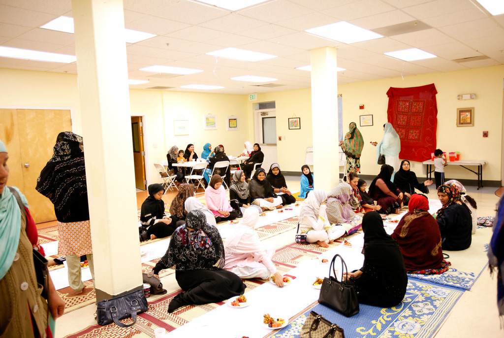 Women gather in their segregated prayer room at Islamic Society of East Bay during Ramadan. Some U.S. mosques are fighting the male status quo, with more women on boards and in prayer halls. The first women's mosque in the U.S. opened in Los Angeles in January.