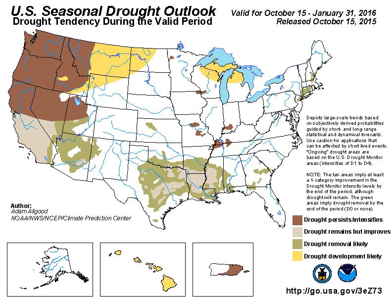 NOAA Seasonal outlook 2