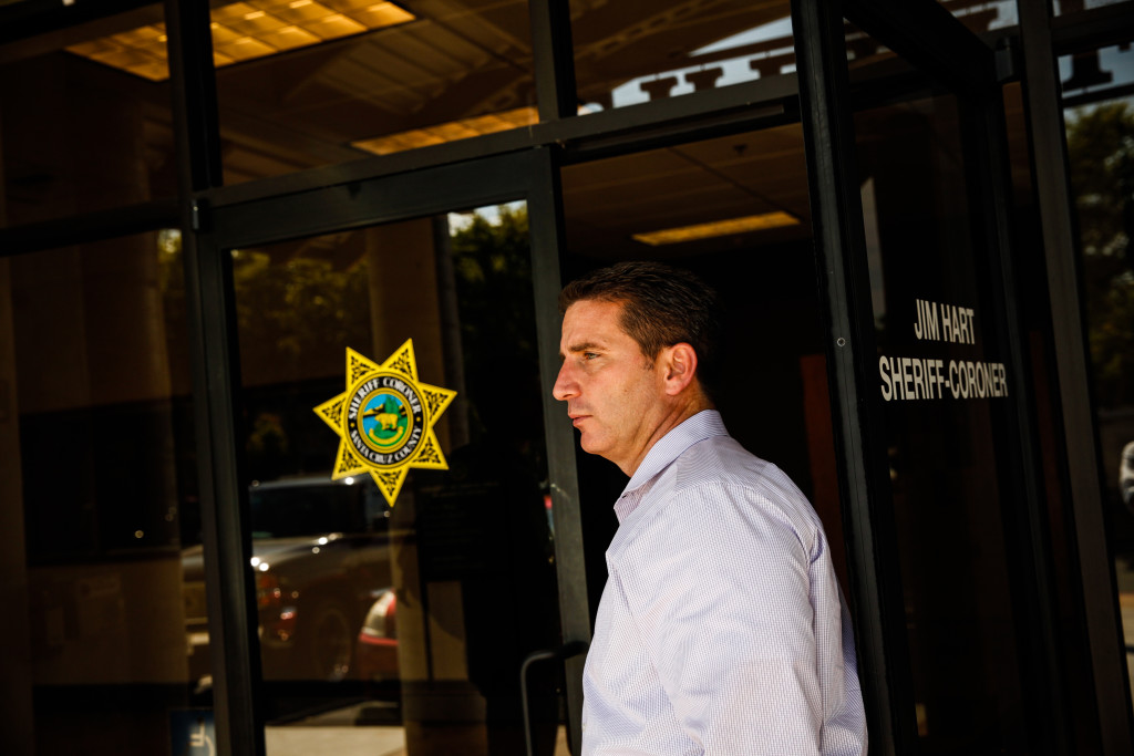 Santa Cruz County Sheriff's Lt. Kelly Kent said the Yardarm sensor's reliance on a strong cellphone connection could be a problem if it's introduced in the county, where coverage is spotty.