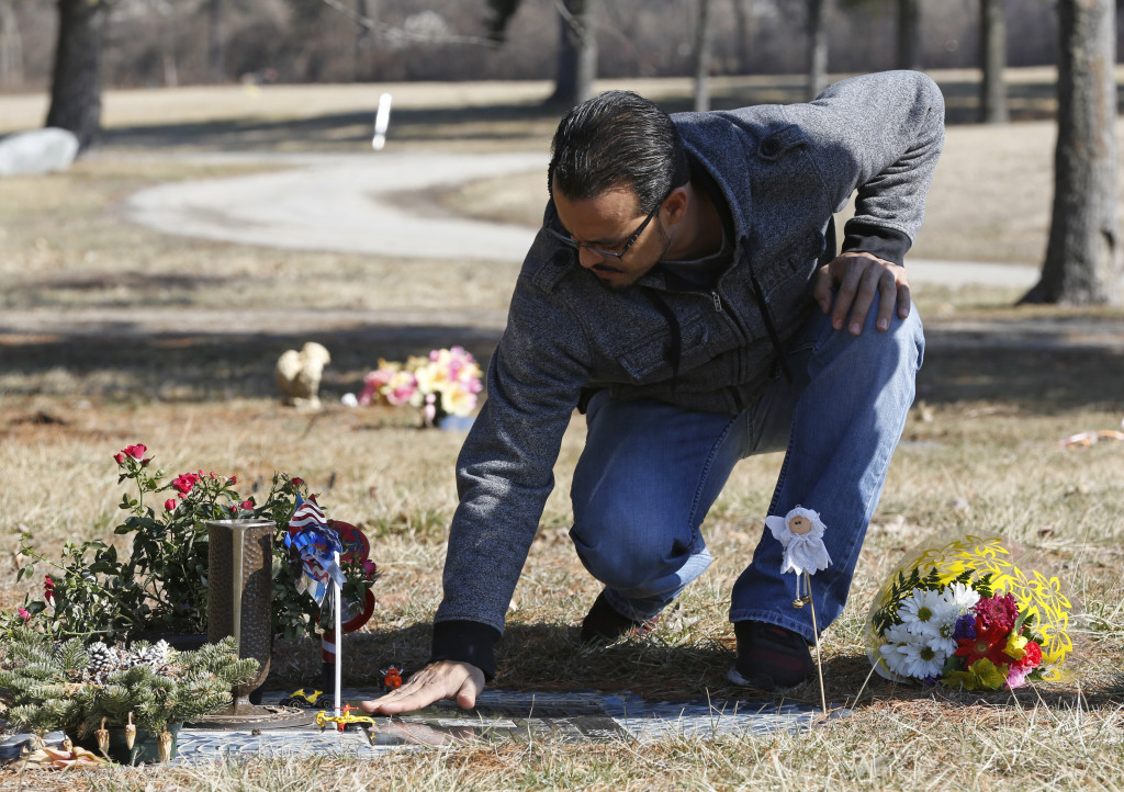Every weekend, Juan Cardenas visits the grave of his son, Carlos. The 1-year-old drowned in a baptismal font at Praise Fellowship Assembly of God day care in Indianapolis in 2012.