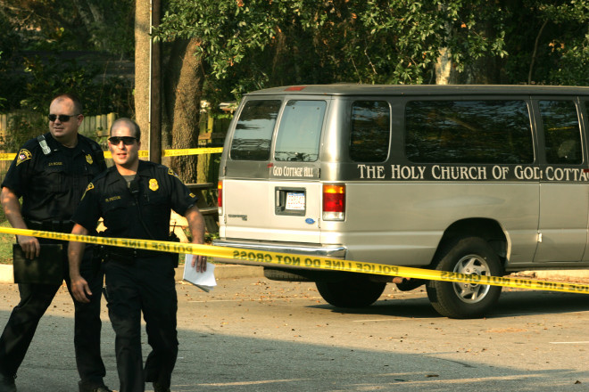b267566f83bd89 Police investigate the death of a child who was left in a day care van at  Cottage Hill Holy Church of God in Mobile