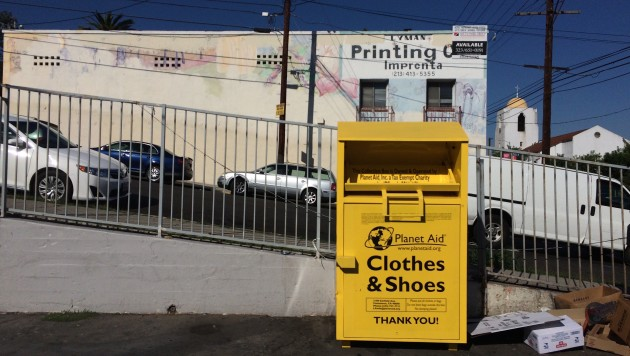 In the U.S., the Teachers Group is known for its used clothing donation boxes found in parking lots across the country. They're often painted yellow or green.