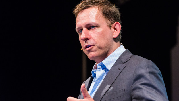 Peter Thiel at the Hy! Summit in Berlin in 2014.