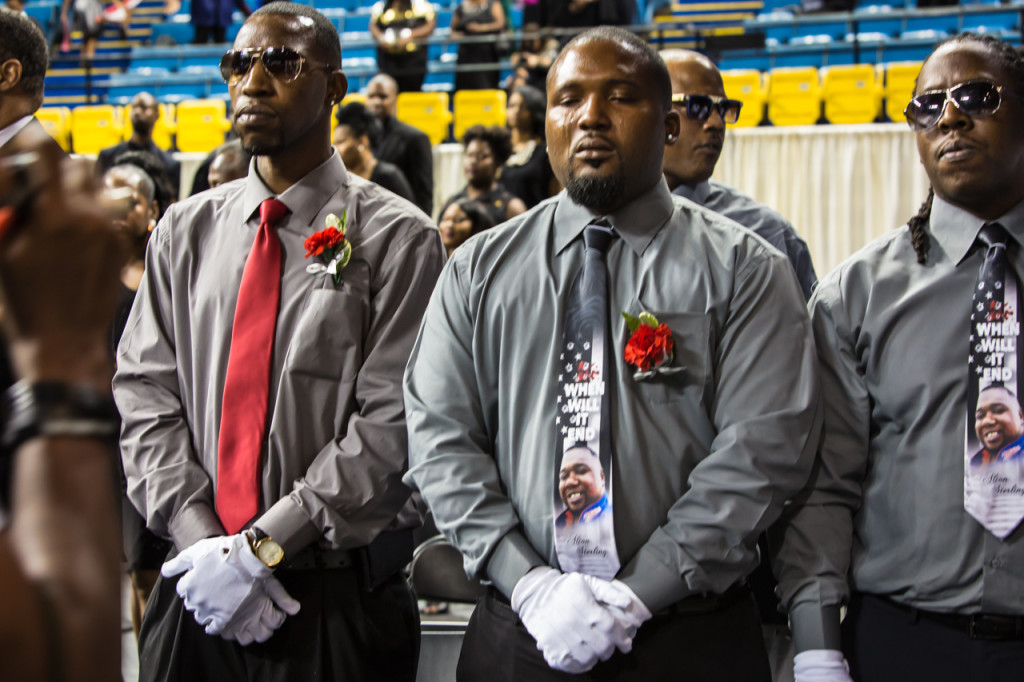 Pallbearers at Alton Sterling's funeral.