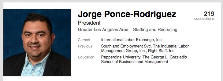 Jorge Ponce Linkedin