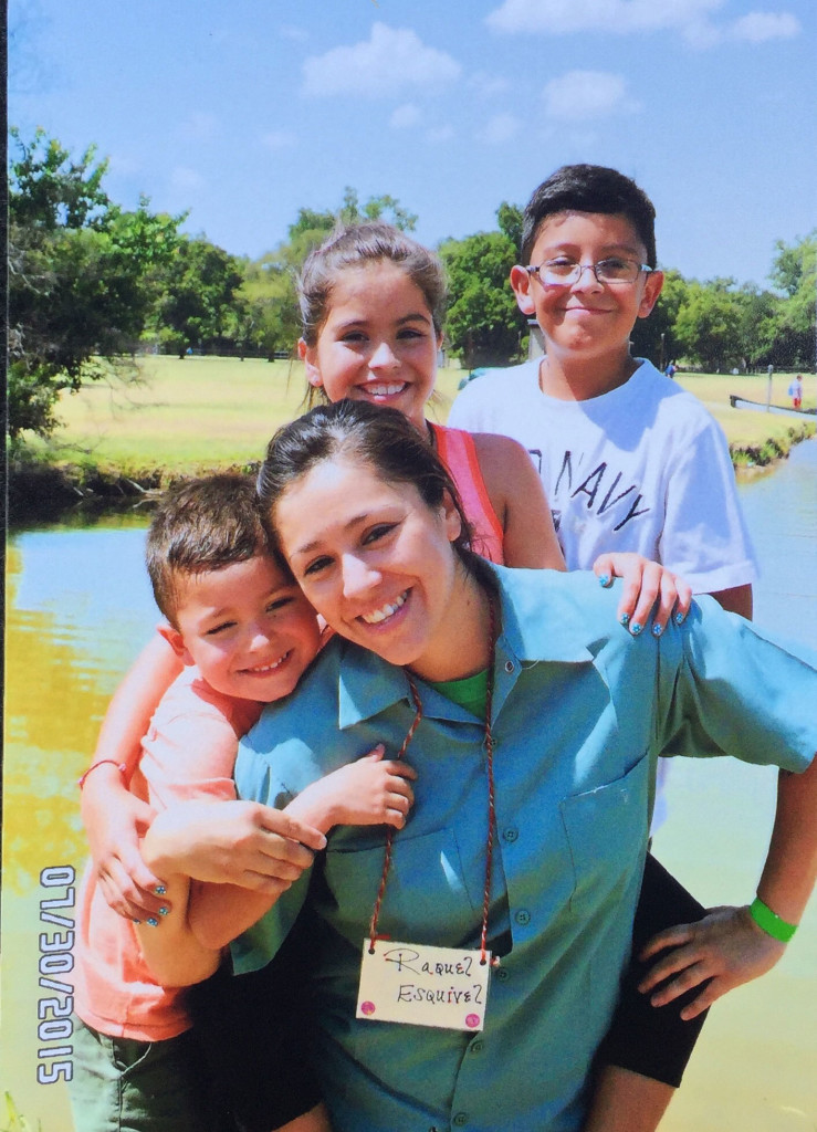 Raquel Esquivel spends time with her children during a day camp at the Texas prison where she's incarcerated. Her 6-year-old son has spent his entire life separated from his mother.