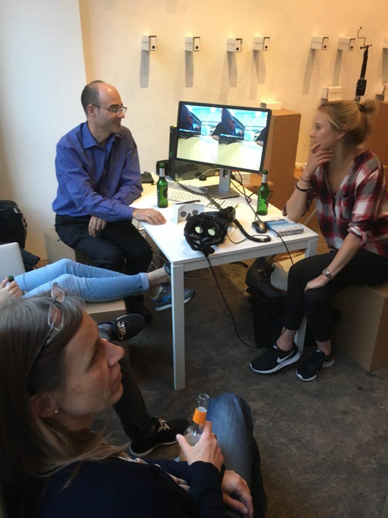 David Ritsher at the VR pop up studio in Berlin.
