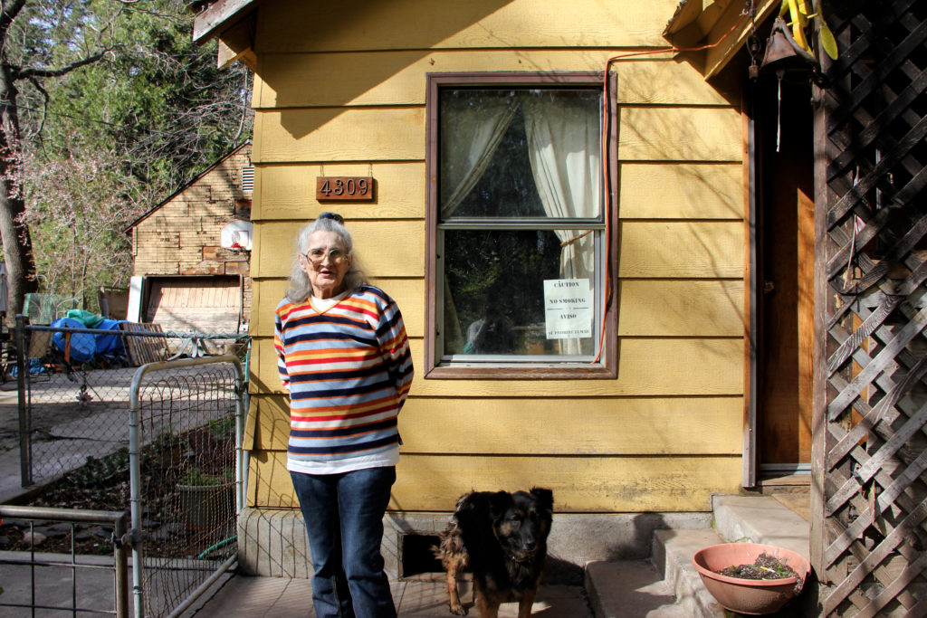 Naomi Croft, 74, has been living in the same house above the Sacramento River in Dunsmuir, Calif., since 1968. Following the 1991 spill, she said she developed asthma. She thinks going outside right after the spill caused her health problems.