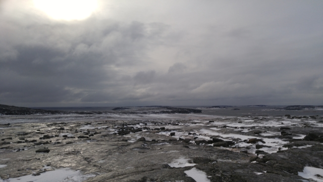 Hudson's Bay coast north of Inukjuak.