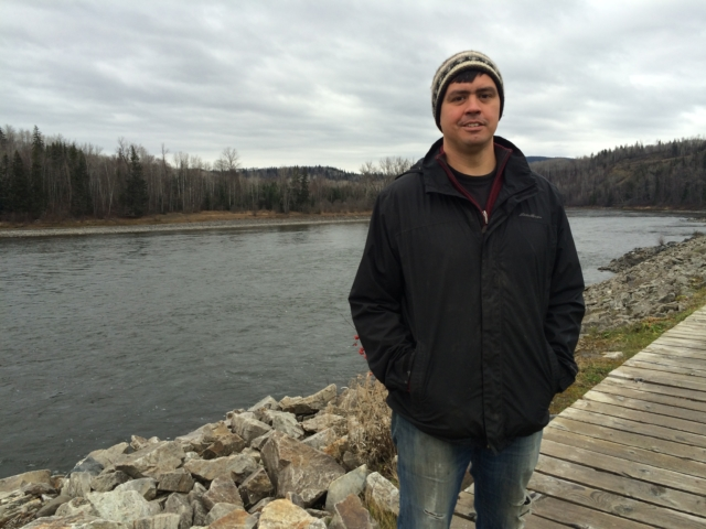 Jacob Beaton stands in front of the Skeena River in Hazelton, British Columbia. Beaton says government can be clueless when it comes to consulting with First Nations on major energy projects