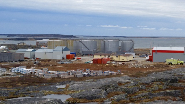 Diesel tank storage for the Inukjuak community.