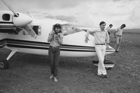 Gov. Jerry Brown traveling through Africa with singer Linda Ronstadt in 1979.