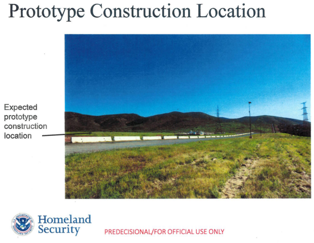 Prototype construction location