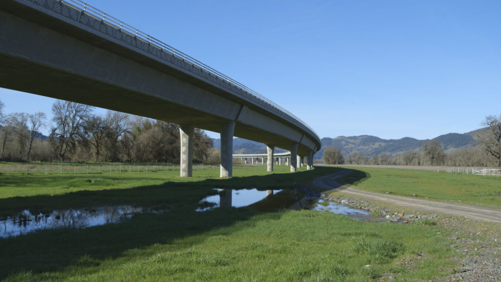 The Willits Bypass, built atop sacred tribal lands.