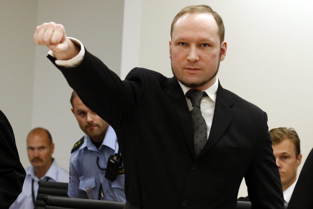 Anders Breivik killed 77 people in 2011 in Norway's worst mass shooting. In his trial, he told the court that he named his rifle