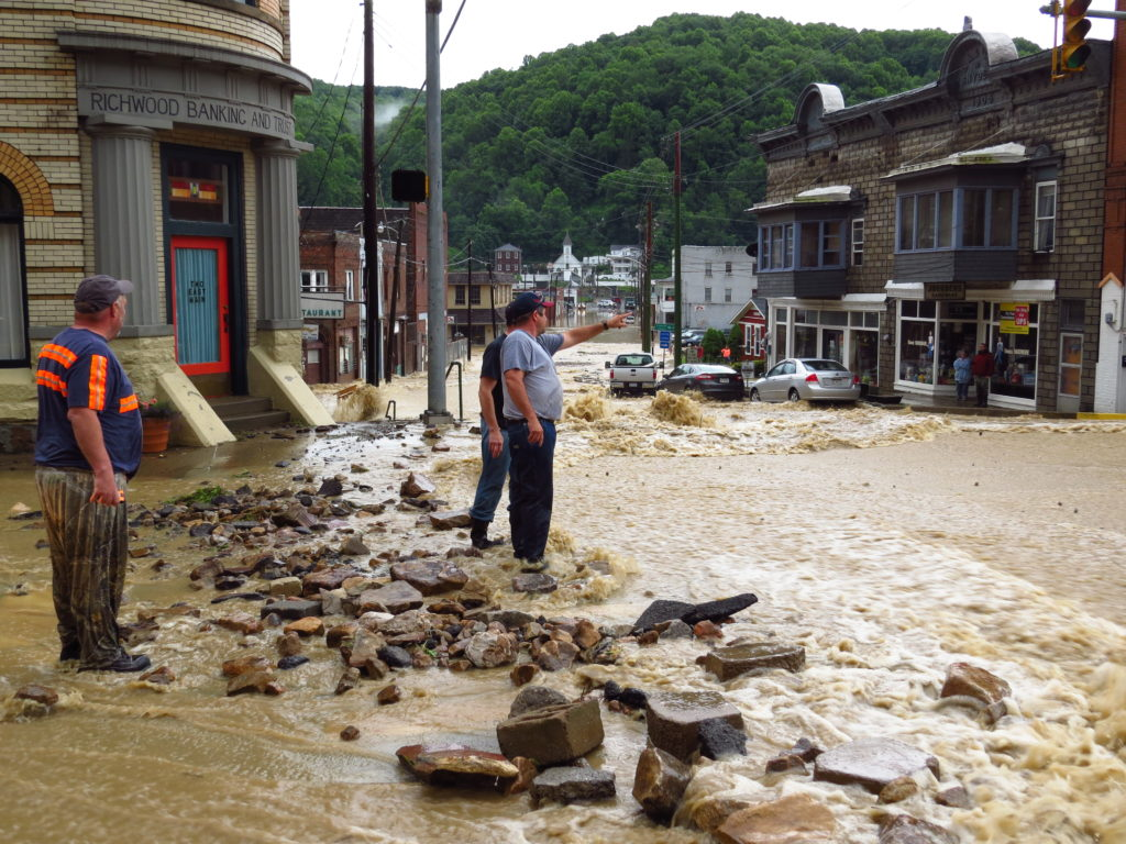 Richwood, West Virginia, residents figure out next steps on June 23, 2016, after their tiny town was devastated by flooding.