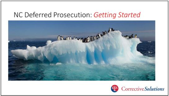 "A slideshow prepared by CorrectiveSolutions for North Carolina prosecutors likened those interested in for-profit diversion but worried about backlash from state court administrators to penguins fearful of tiger sharks. It went on to assure them that state officials were on board, so it was safe to ""jump in."""