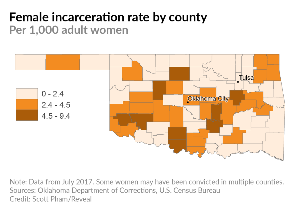 Let down and locked up: Why Oklahoma's female incarceration