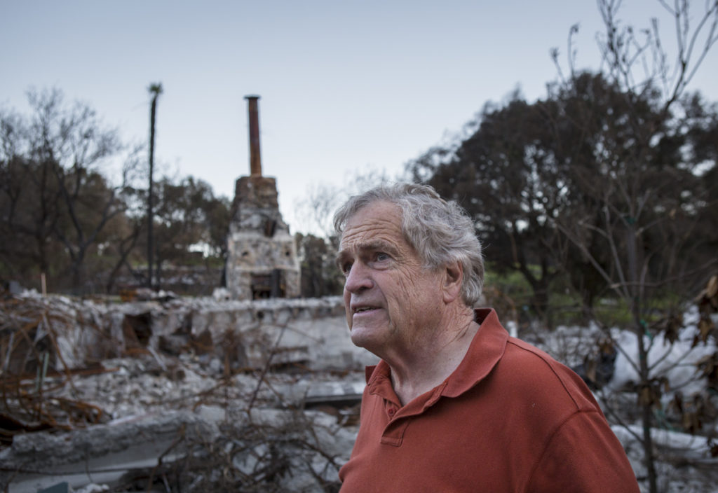 John Fouts Of Calistoga Calif Looks Out At His Property Mountain Home Ranch Which Was Destroyed By The Tubbs Fire In October Credit Emily Harger For