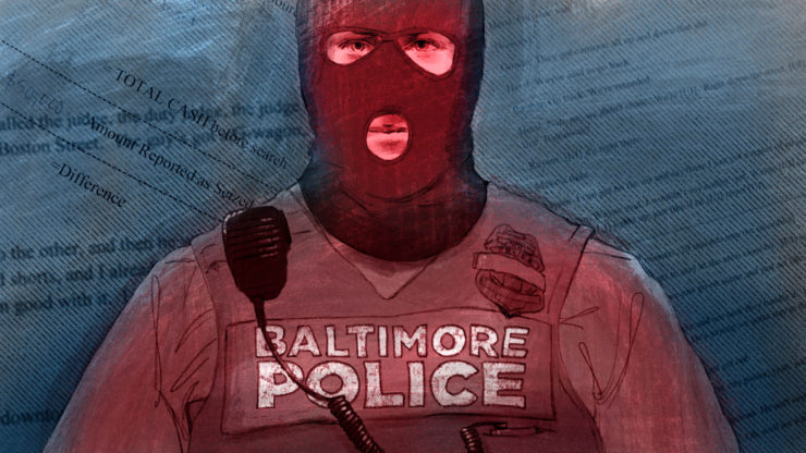 Caption They Belonged To An Elite Police Task Force Charged With Getting Guns Off Baltimores Streets Instead The Plainclothes Cops Roamed City