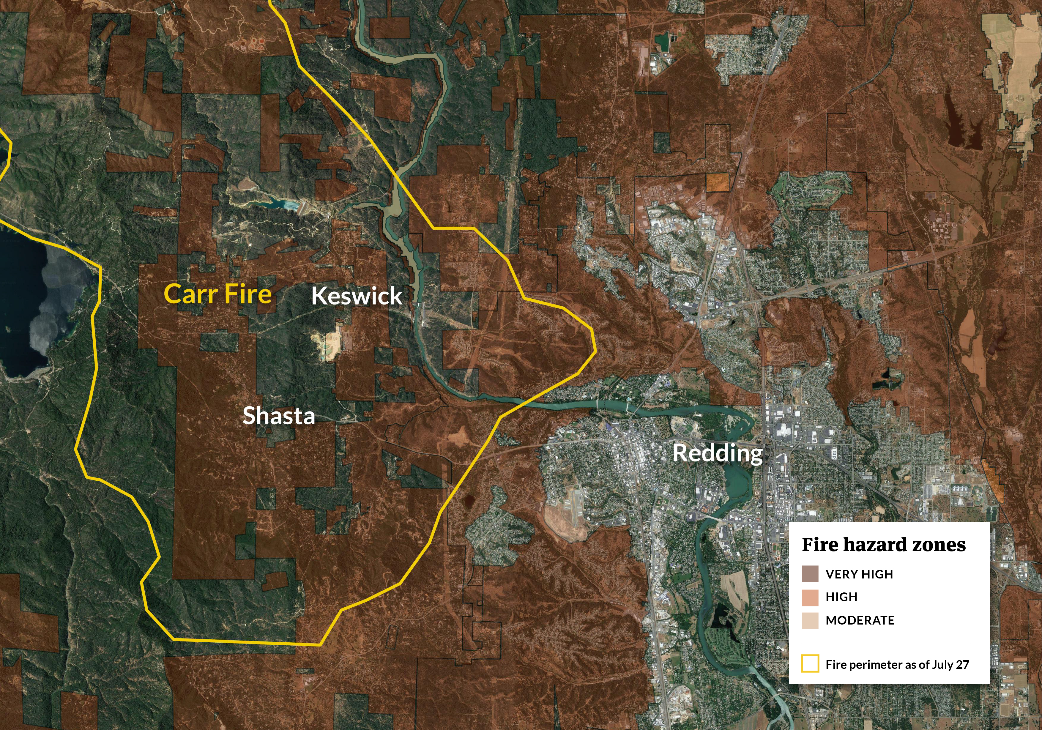 Middleton Fire Map.Redding Confronts A Deadly Pattern A History Of Wildfires And