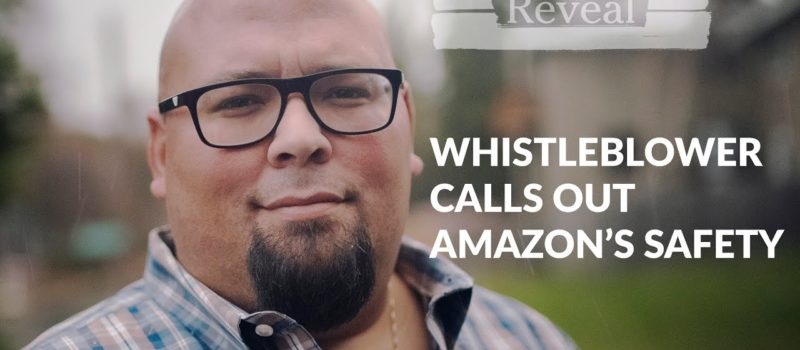 "A still from the video says ""whistleblower calls out amazon's safety"""